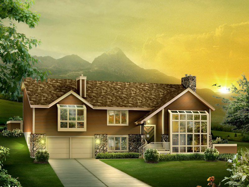 Mountain Home Plan Front of Home 007D-0083