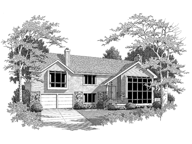Lake House Plan Front Image of House 007D-0083