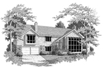 Modern House Plan Front Image of House - 007D-0083 | House Plans and More
