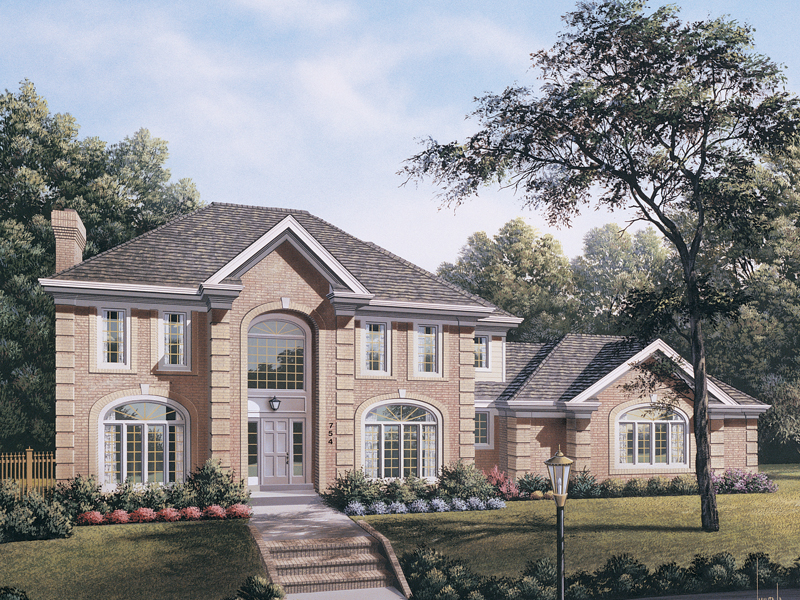 Luxury House Plan Front of Home 007D-0084
