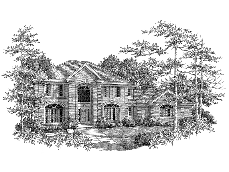 Georgian House Plan Front Image of House - 007D-0084 | House Plans and More