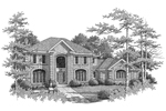 Colonial House Plan Front Image of House - 007D-0084 | House Plans and More