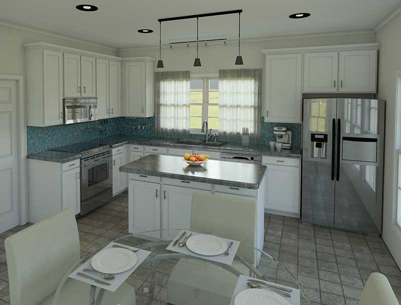 Ranch House Plan Kitchen Photo 01 007D-0085