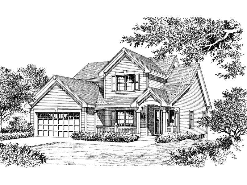 Contemporary House Plan Front Image of House - 007D-0086 | House Plans and More