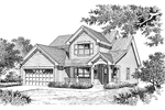 Traditional House Plan Front Image of House - 007D-0086 | House Plans and More