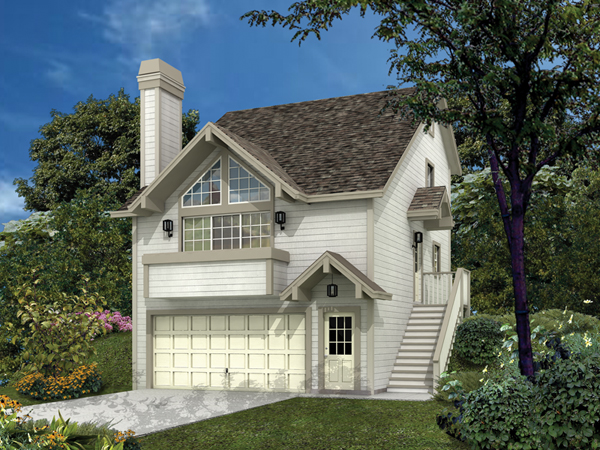siminridge sloping lot home plan 007d-0087 | house plans and more