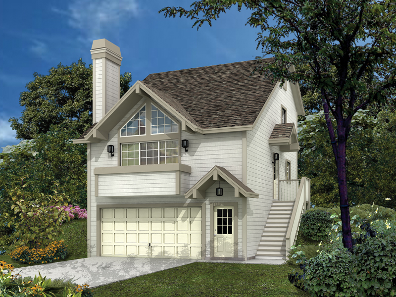 Siminridge sloping lot home plan 007d 0087 house plans for House plans sloped lot