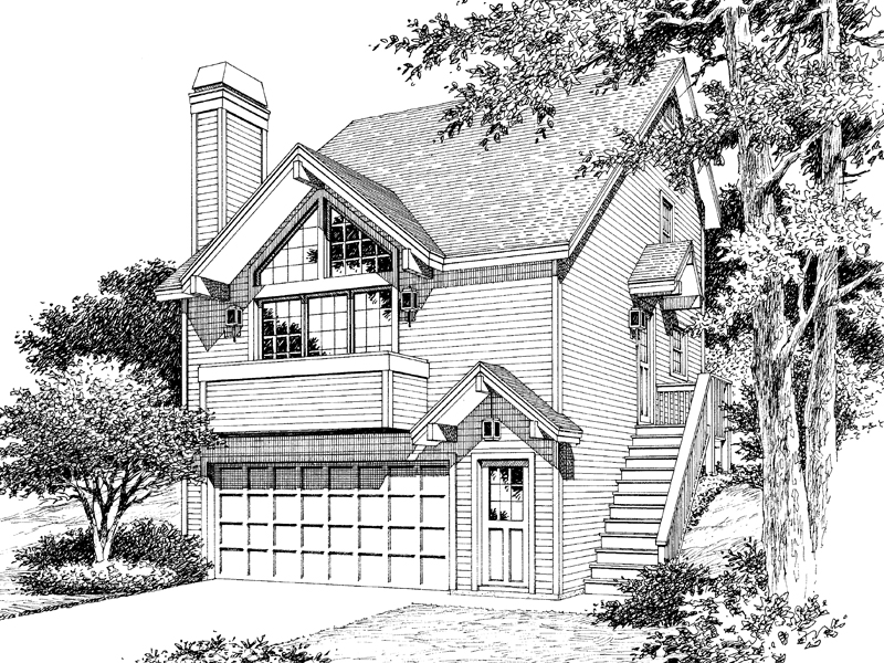 Vacation House Plan Front Image of House - 007D-0087 | House Plans and More