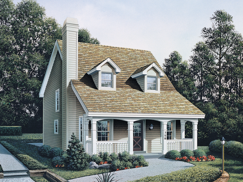 Cape Cod and New England Plan Front of Home 007D-0088