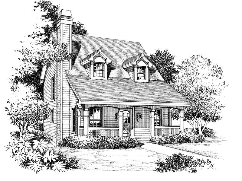 Cabin and Cottage Plan Front Image of House - 007D-0088 | House Plans and More
