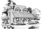 Acadian House Plan Front Image of House - 007D-0088 | House Plans and More