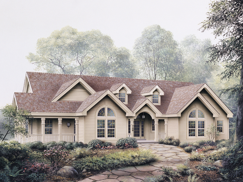 Ranch House Plan Front of Home 007D-0089