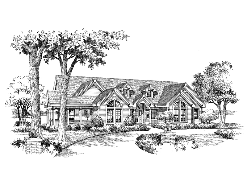Country House Plan Front Image of House 007D-0089