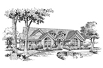 Ranch House Plan Front Image of House - 007D-0089 | House Plans and More