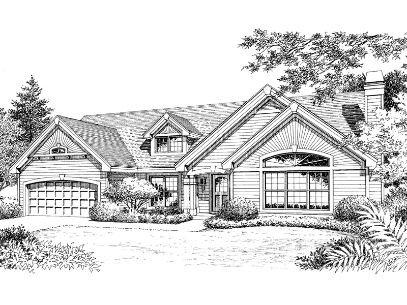 Bungalow House Plan Front Image of House - 007D-0090 | House Plans and More