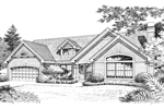 Ranch House Plan Front Image of House - 007D-0090 | House Plans and More