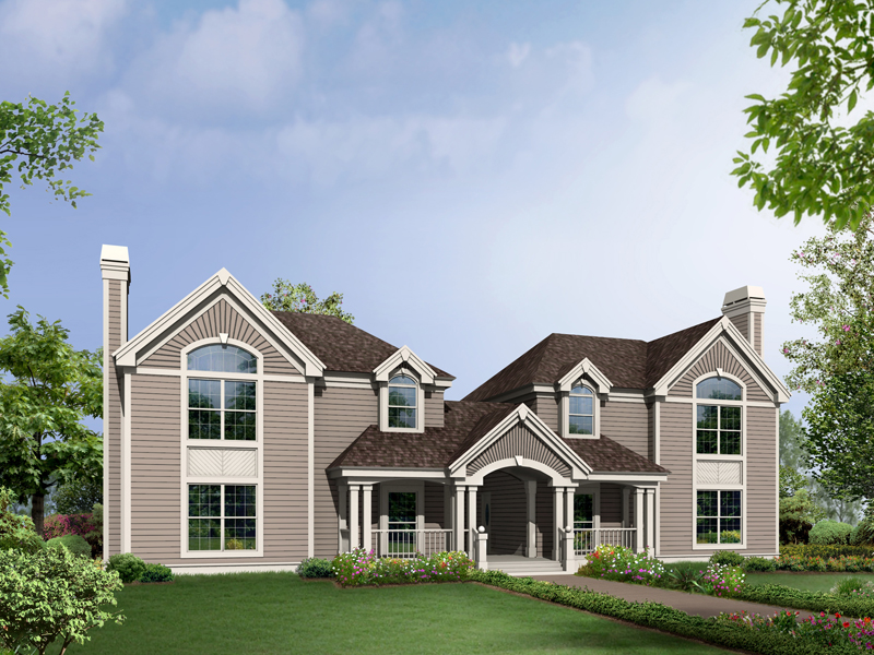Country House Plan Front of Home 007D-0091