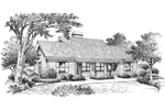 Cabin & Cottage House Plan Front Image of House - 007D-0093 | House Plans and More