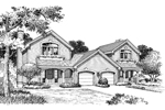 Traditional House Plan Front Image of House - 007D-0094 | House Plans and More