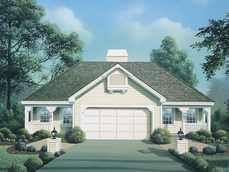 Vacation Home Plan Front of Home 007D-0095