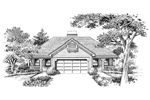 Cabin and Cottage Plan Front Image of House - 007D-0095 | House Plans and More