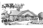 Ranch House Plan Front Image of House - 007D-0096 | House Plans and More