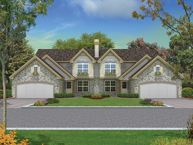 Multi-Family House Plan Front of Home 007D-0097