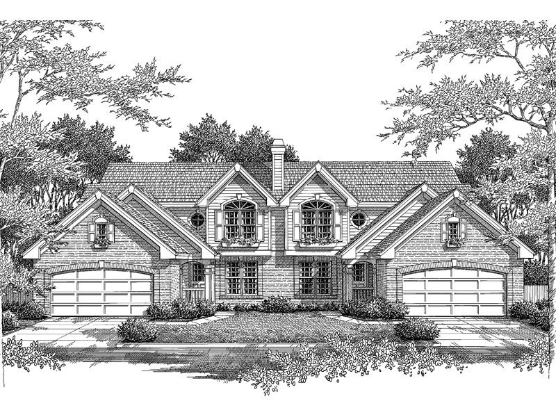 Multi-Family House Plan Front Image of House 007D-0097