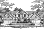 English Tudor House Plan Front Image of House - 007D-0097 | House Plans and More