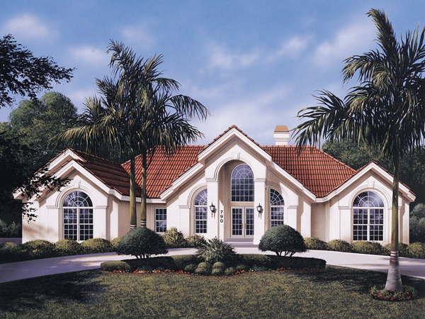 Tampa Bay Atrium Ranch Home Plan 007D-0098 | House Plans and More