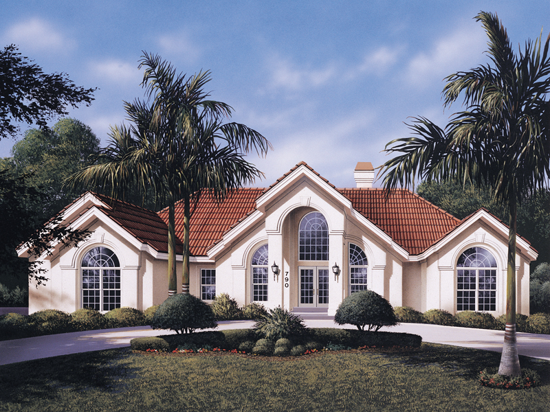 Southwestern House Plan Front of Home 007D-0098
