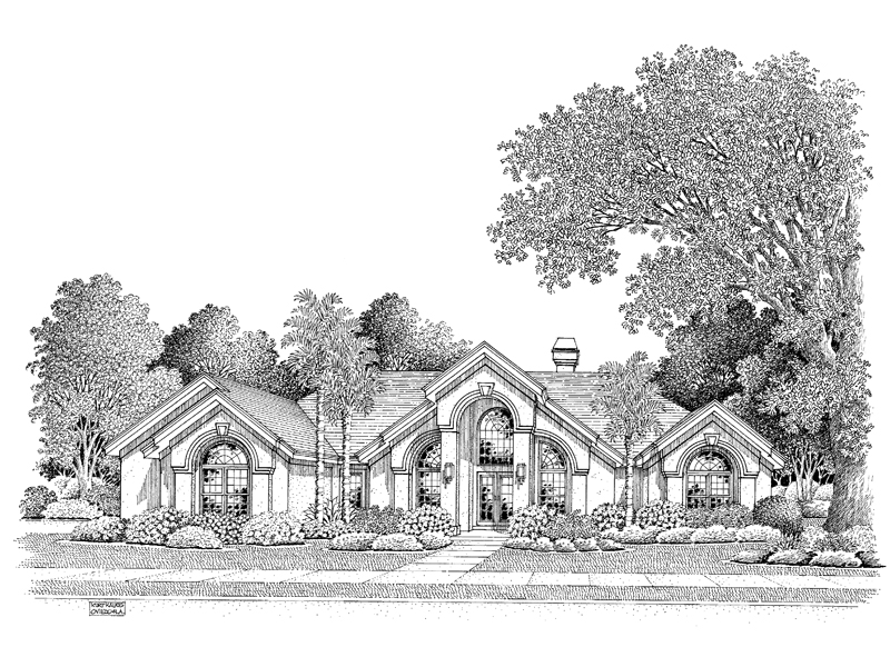 Ranch House Plan Front Image of House 007D-0098