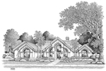 Southwestern House Plan Front Image of House - 007D-0098 | House Plans and More