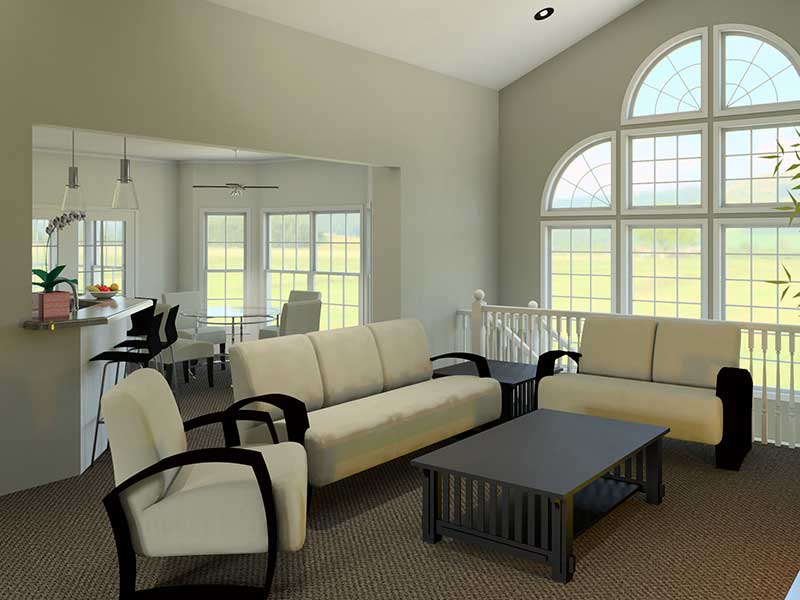 Ranch House Plan Great Room Photo 01 007D-0098