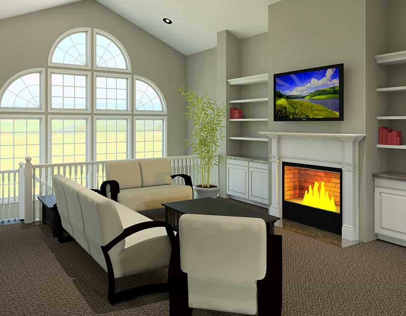 Ranch House Plan Great Room Photo 02 007D-0098