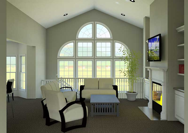 Southwestern House Plan Great Room Photo 03 007D-0098