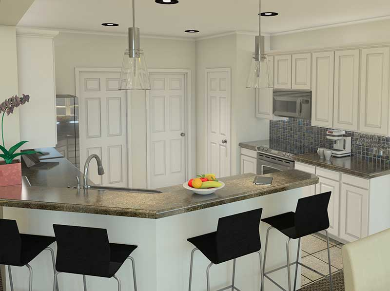 Ranch House Plan Kitchen Photo 01 007D-0098