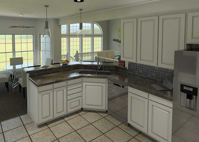 Sunbelt Home Plan Kitchen Photo 02 007D-0098