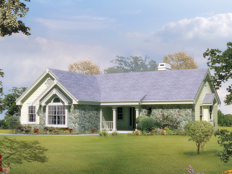 Ranch House Plan Front of Home - 007D-0099 | House Plans and More
