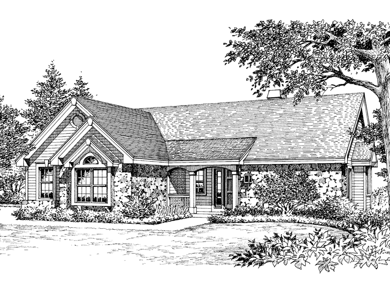 Ranch House Plan Front Image of House - 007D-0099 | House Plans and More