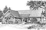 Traditional House Plan Front Image of House - 007D-0099 | House Plans and More
