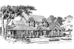Farmhouse Plan Front Image of House - 007D-0100 | House Plans and More