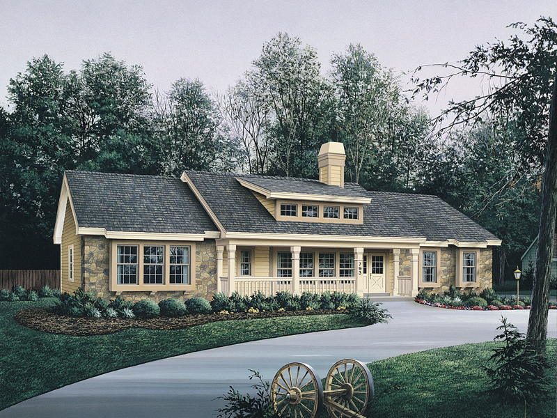 Ranch House Plan Front of Home 007D-0101