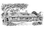 Rustic Home Plan Front Image of House - 007D-0101 | House Plans and More