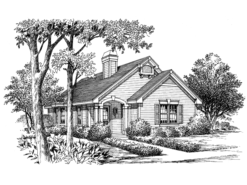 Cabin & Cottage House Plan Front Image of House - 007D-0102 | House Plans and More