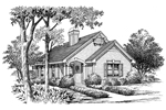 Ranch House Plan Front Image of House - 007D-0102 | House Plans and More
