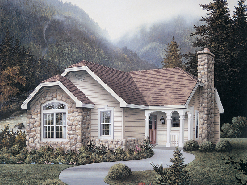 Vacation Home Plan Front of Home - 007D-0103 | House Plans and More