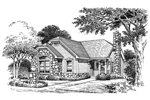 English Cottage Plan Front Image of House - 007D-0103 | House Plans and More