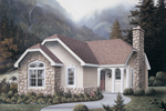Cabin and Cottage Plan Front of Home - 007D-0103 | House Plans and More