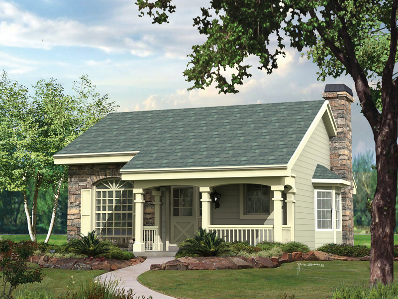 Country House Plan Front of Home 007D-0104